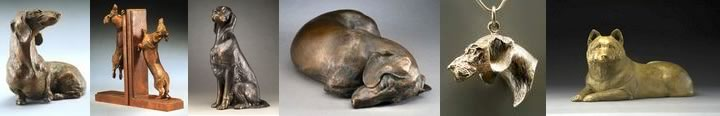 Joy Beckner fine bronze sculptor versatility in bronze canine sculpture