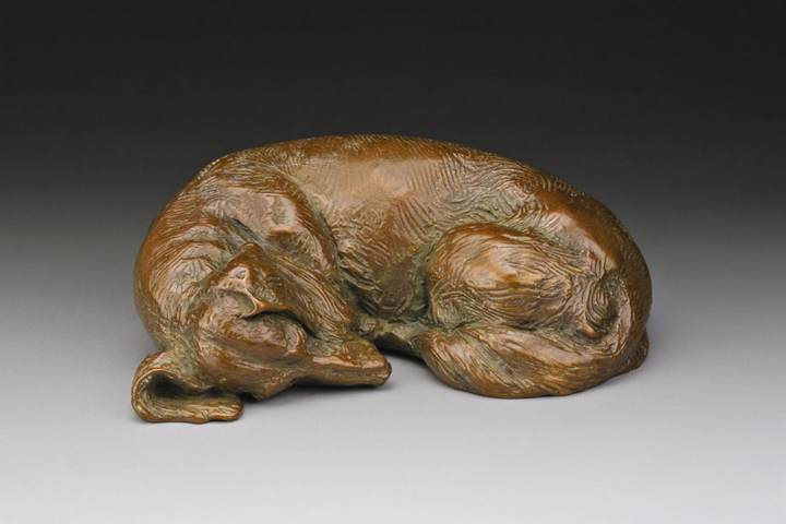 Dreaming of Tomatoes 1:6 Scale Long Dachshund Sculpture in bronze by Sculptor Joy Beckner