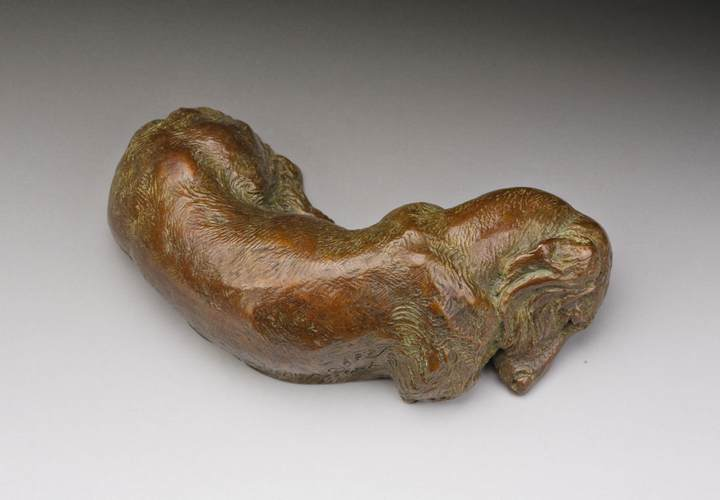 Siesta 1:6 Scale Long Dachshund Bronze Sculpture by Joy Beckner