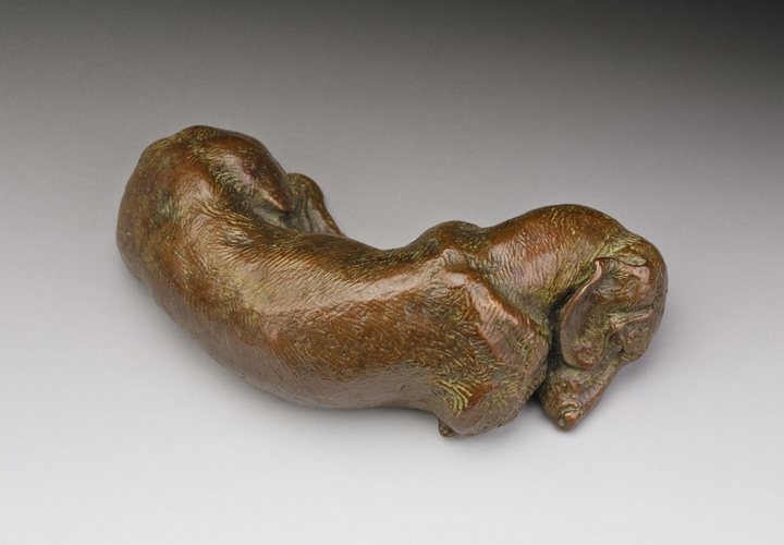 Siesta 1:6 Scale Smooth Dachshund Bronze Sculpture by Joy Beckner