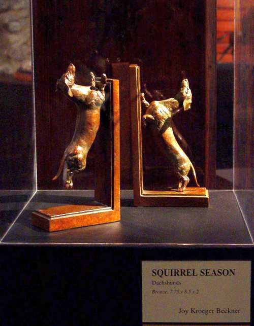 Squirrel Season-Smooth at Hiram Blauveldt Art Museum - Sculptor Joy Beckner