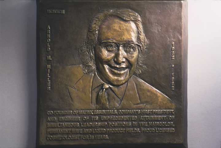 Arnold M. Miller Human Bronze Sculpture by Joy Beckner National Cosmetology Association Hall of Fame