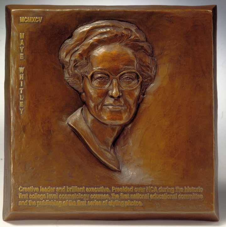 National Cosmetology Association Hall of Fame Maye Whitley Human Bronze Sculpture by Joy Beckner
