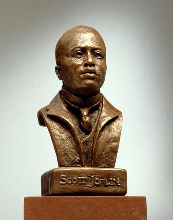 Scott Joplin Human Bonded Bronze Sculpture by Joy Beckner