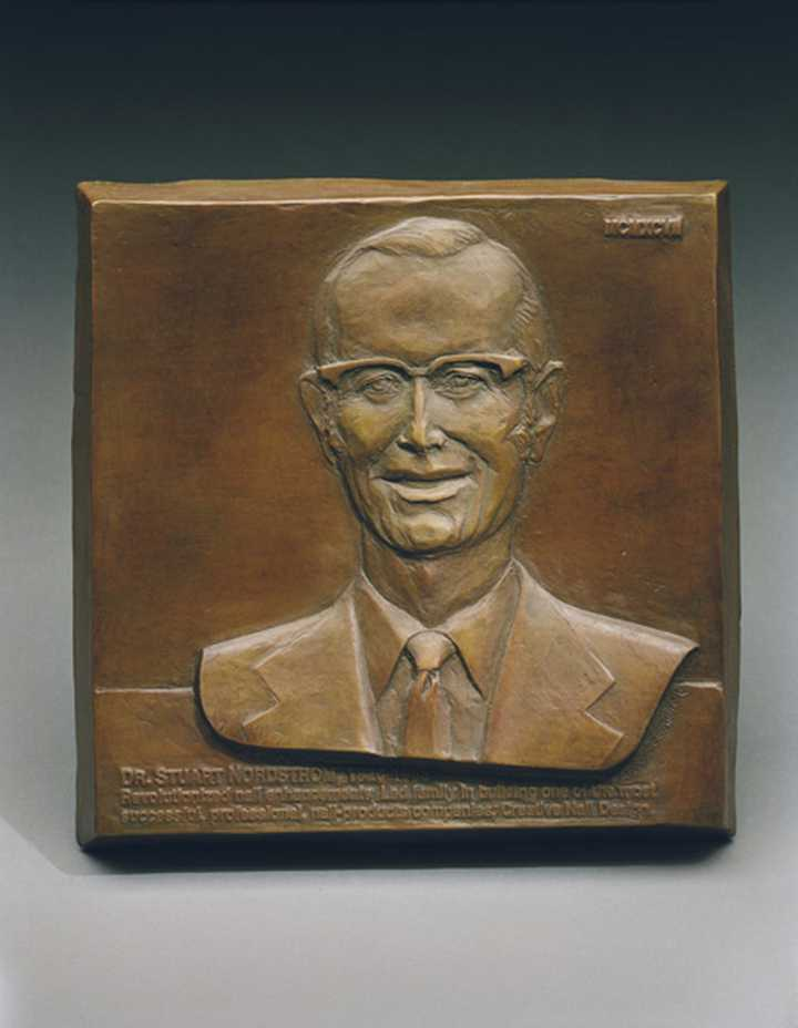 Dr. Stuart Nordstrom Human Bronze Sculpture by Joy Beckner