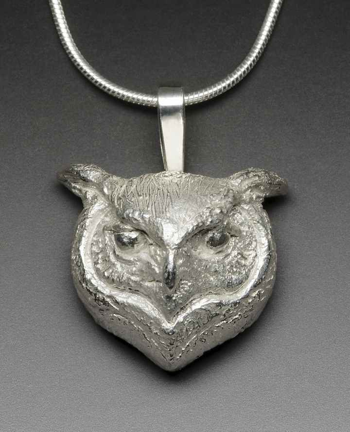 Sterling Silver Owl Pendant by Joy Kroeger Beckner - The Eyes Have It