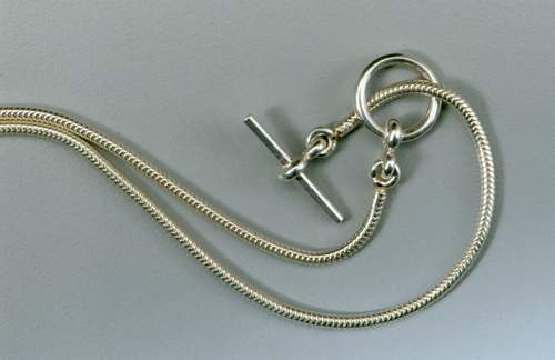 Sterling Silver Serpent Chain & Toggle Closure